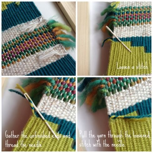 DIY wall hanging tutorial how to tie off the loose ends