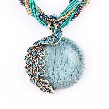 Peacock Design Necklace //Price: $ 9.00 & FREE Shipping //     #jewelry #jewels #jewel #fashion #gems #gem #gemstone #bling #stones   #stone #trendy #accessories #love #crystals #beautiful #ootd #style #accessory   #stylish #cute #fashionjewelry  #bracelets #bracelet #armcandy #armswag #wristgame #pretty #love #beautiful   #braceletstacks #earrings #earring