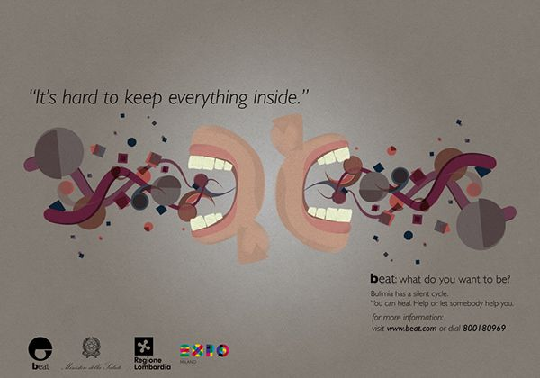 Social Campaign about binge eating disorder.