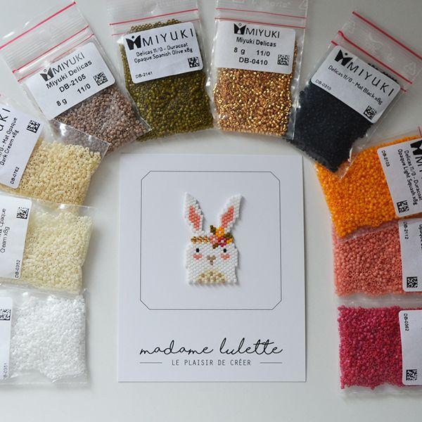broche-motif-lapin-tissage-brick-stitch-perles-Miyuki-Delicas-par-madame-lulette-materiel