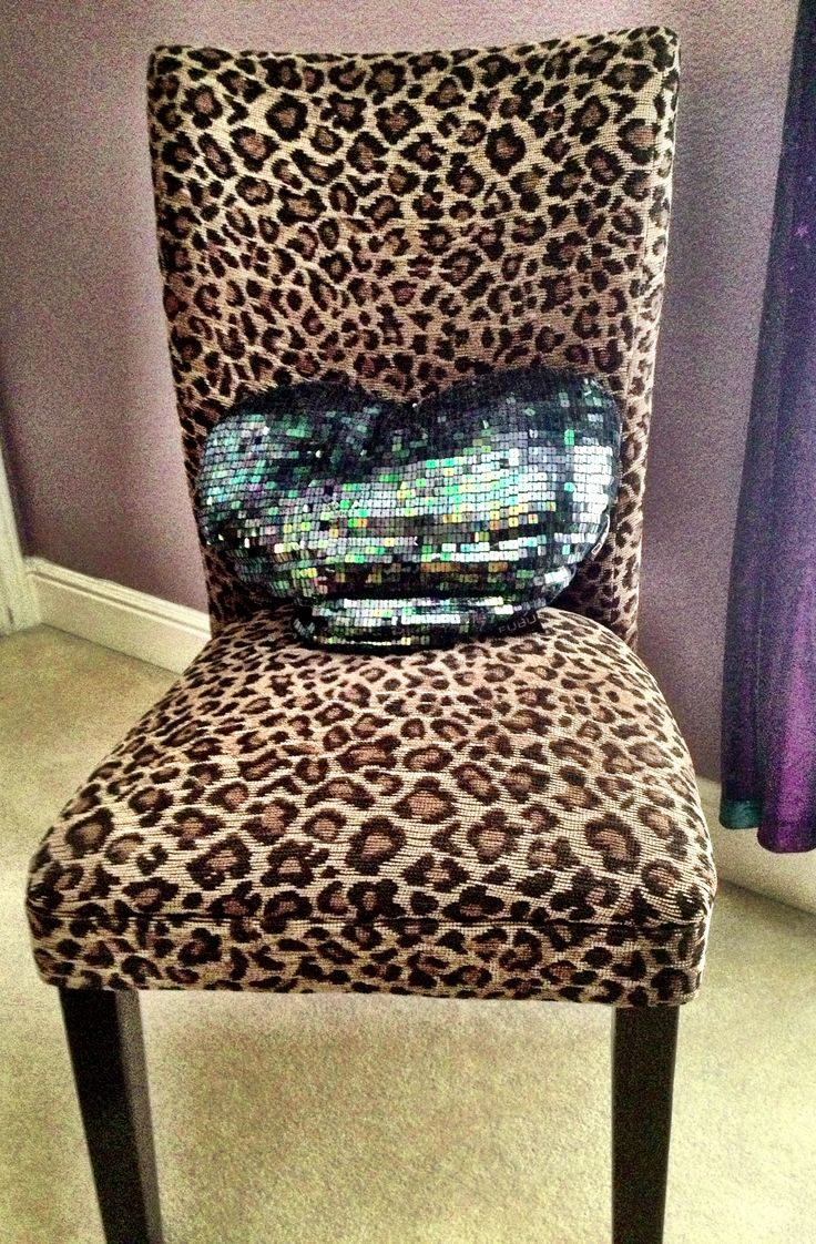 Cheetah chair with sparkle pillow! Love it!