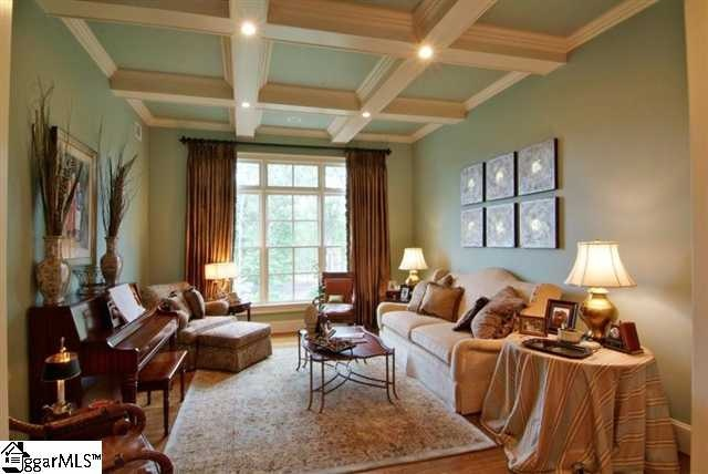 Coffered Ceilings Sherwin Williams Dutch Tile Blue Paint