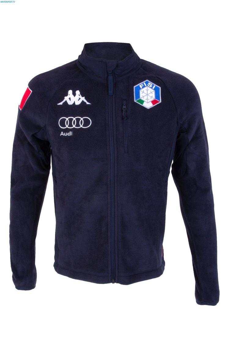 Kappa Men Italian Alpine Team FISI Fleece Jacket - Blue Nights White