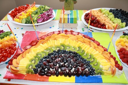 Birthday: Birthday Parties, Birthday Theme, Rainbows Fruit, Rainbows Birthday, Fruit Platters, Rainbows Parties, Parties Ideas, Fruit Display, Birthday Ideas