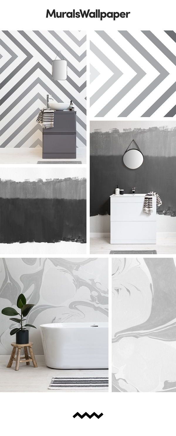 If You Are Looking To Create A Cool Scandinavian Space In Grey Muted Tones Then A Grey Scandi Wallpap Grey Wallpaper Designs Grey Wallpaper New Bathroom Ideas