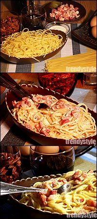 Italiaans pastagerecht: spaghetti alla carbonara - Koken met Trendy Recepten