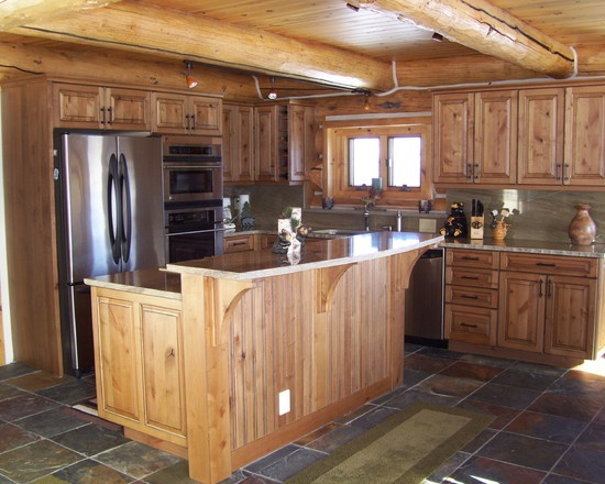Traditional Kitchen Log Cabin Decorating Design, Pictures, Remodel, Decor  And Ideas   Page