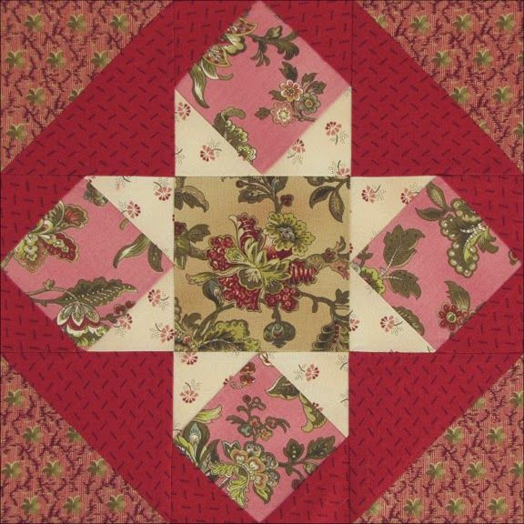 Civil War Quilts: Threads of Memory block 4: Canada Star for Lucie Blackburn