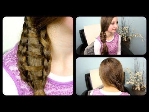 Ladder Braid Side Ponytail | Cute Girls Hairstyles (+playlist)