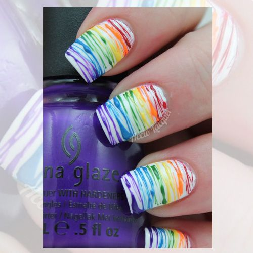 Rainbow Pride Color Nails - 31 Best LGBT Inspired Nail Art ...