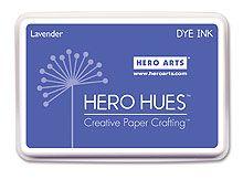 *Hero Arts Dye Ink LAVENDER Stamp Pad Hue Purple AF166