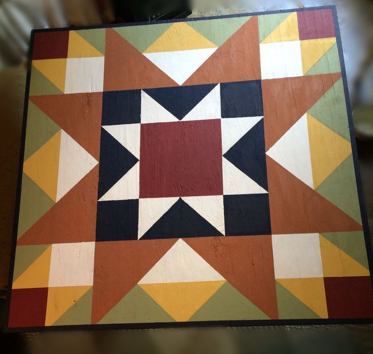 Just finished this 3'x3' barn quilt for my garden shed. Now to