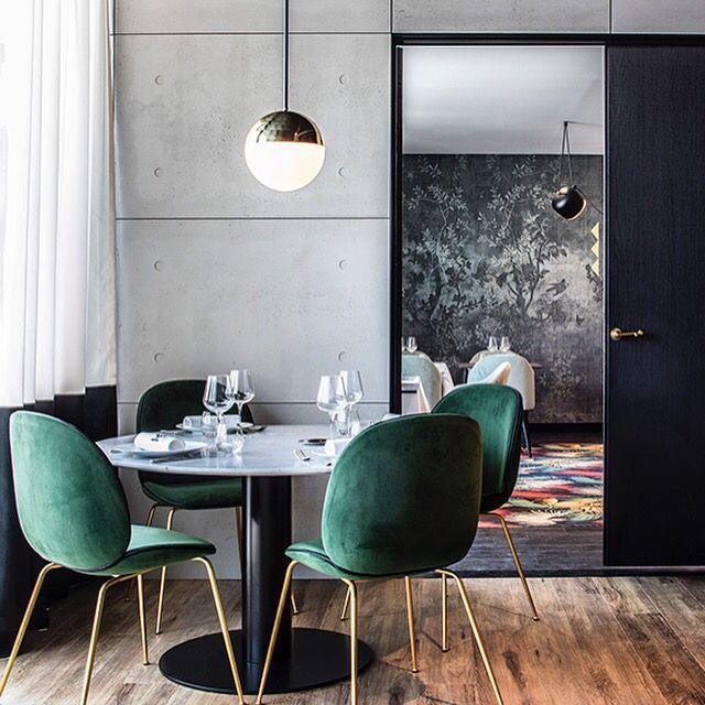 Project Restaurant Lyon Claude Cartier Décoration - La Foret Noire - magic circus editions - thonet vienna - la chance - wall and deco - gubi - beetle chair - gamfratesi - palmadore - pierre frey - dimore studio