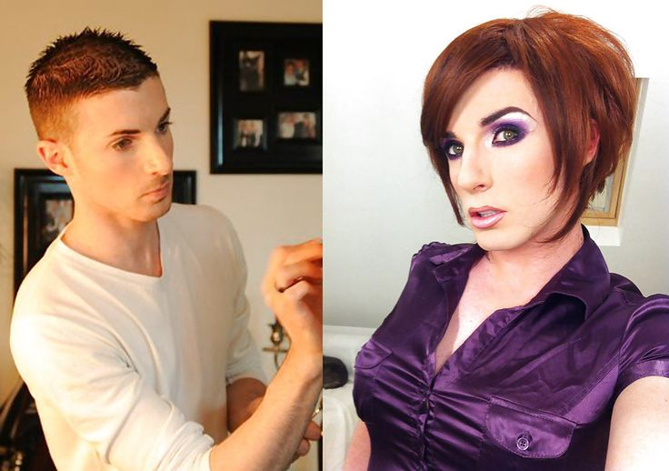 Crossdressering Before and After