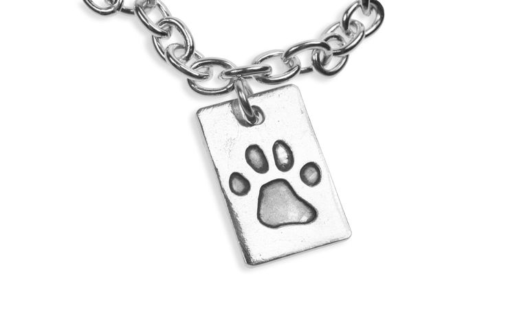 Paw print pendant on cable chain   www.silverpetprints.com