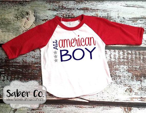 ALL AMERICAN BOY // Infant Raglan t-shirt // fourth of July shirt // 4th of July // american boy