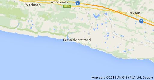 Map of Eersterivierstrand, South Africa