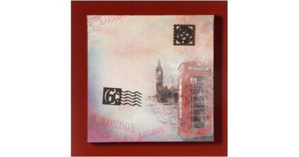 Elegante e sofisticado, o quadro sobreposto Londres Phone transmite abeleza e personalidade dos principais elementos clássicos de Londres como as famosas e conceituadas cabines telefônicas vermelhas.Quadro com detalhes de Londres e fundo em terra-cota. Indispensável para salas e escritó