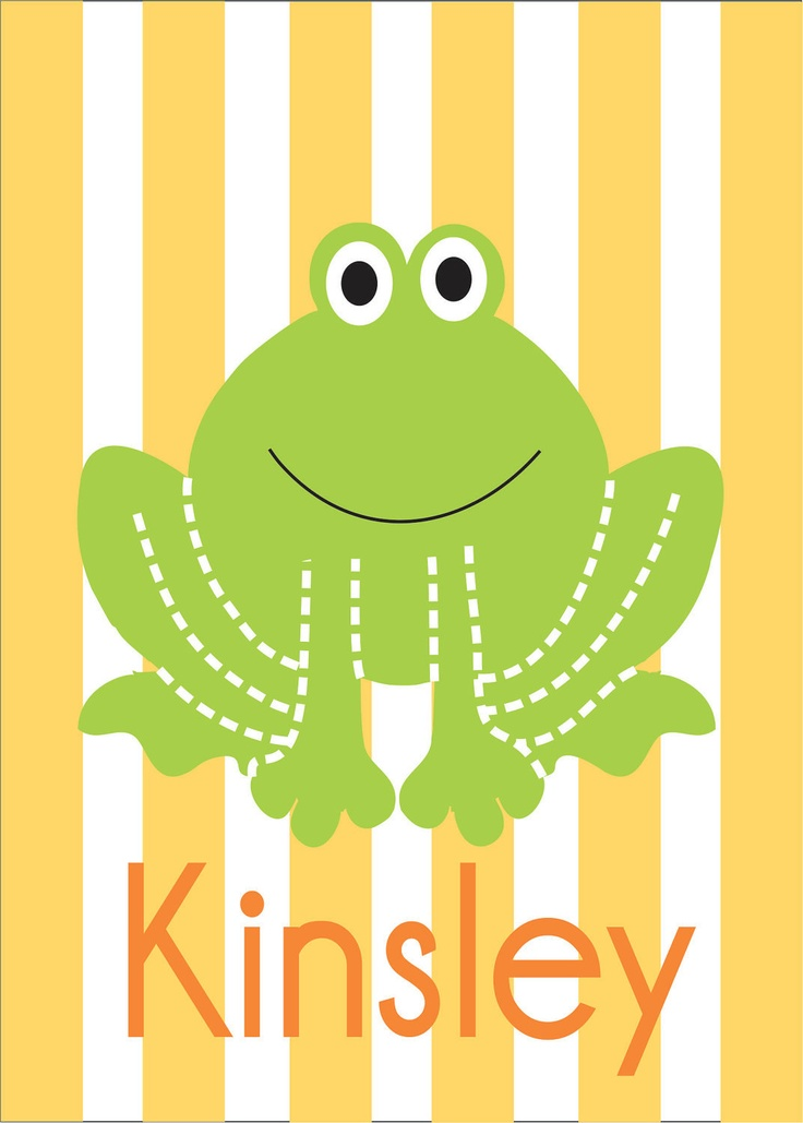 Frog Childrenu0027s Bathroom Wall Art, Kids Bathroom Decor, Nursery Print, 8x10  In Yellow