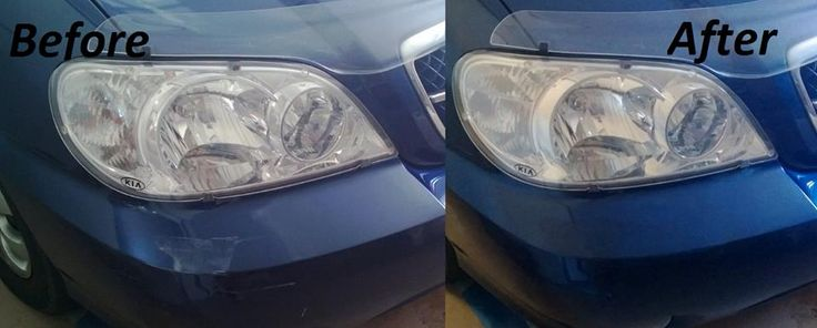 David's Kia before & After using Chipex touch up paint http://www.chipex.co.uk/kia-touch-up-paint/