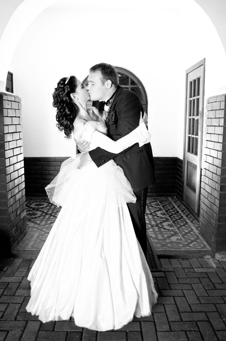 On my wedding day! The most beautiful dress in the world...made with love by Aplomb Couture