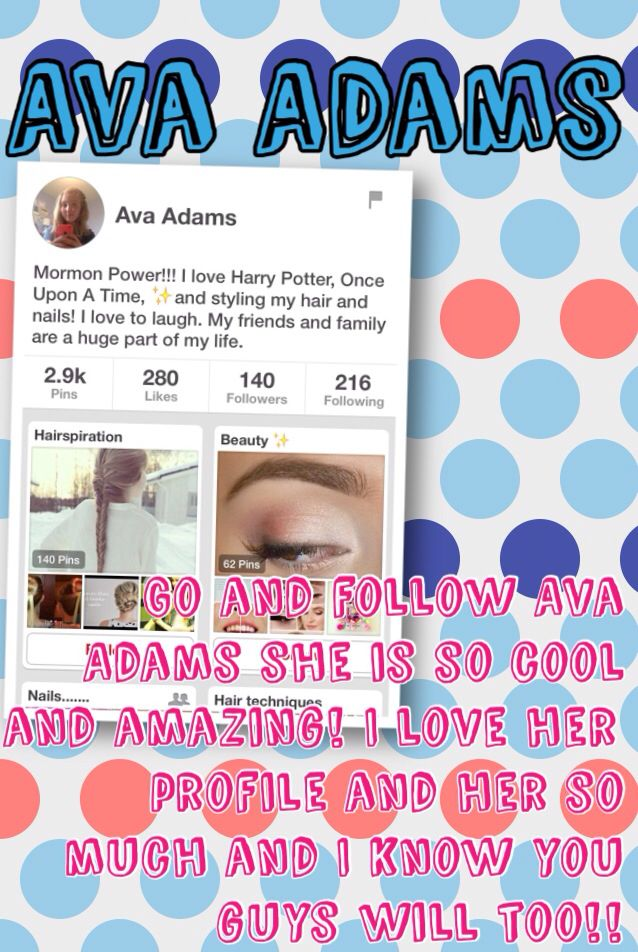 Shoutout to Ava Adams!!! Hope u like it Ava!!