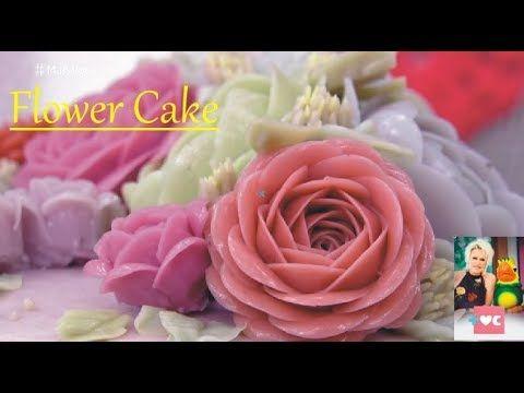 MAIS VC Aprenda como fazer um bolo Flower Cake - YouTube