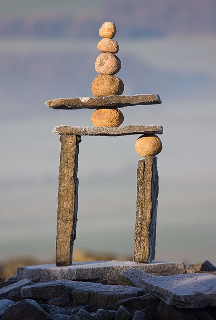 Very unusual use of pebbles, to great effect as a sculpture.