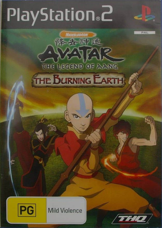 Avatar The Last Airbender The Burning Earth Ntsc Ing Ps2
