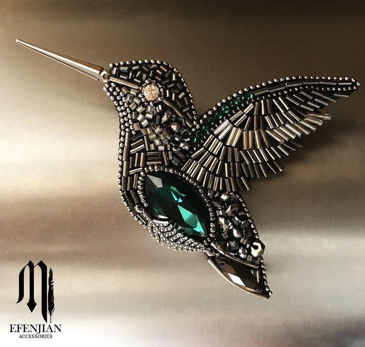 брошь-колибри bird