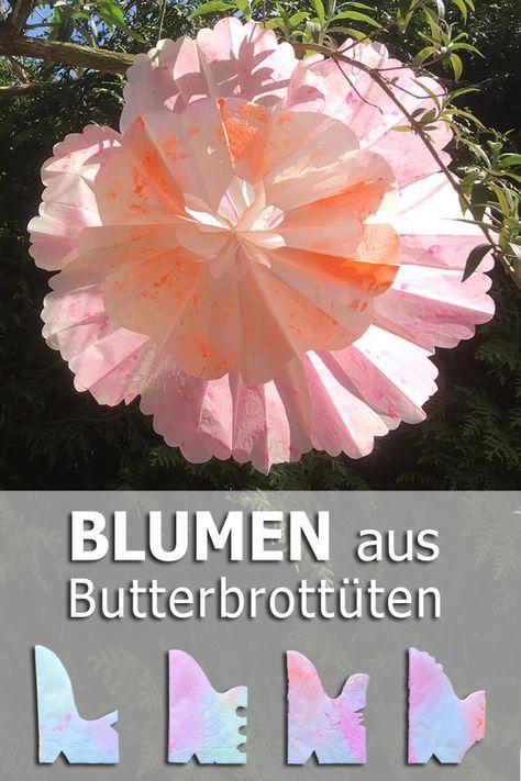 Blumen aus Butterbrottüten | tiffidi – Nähen …