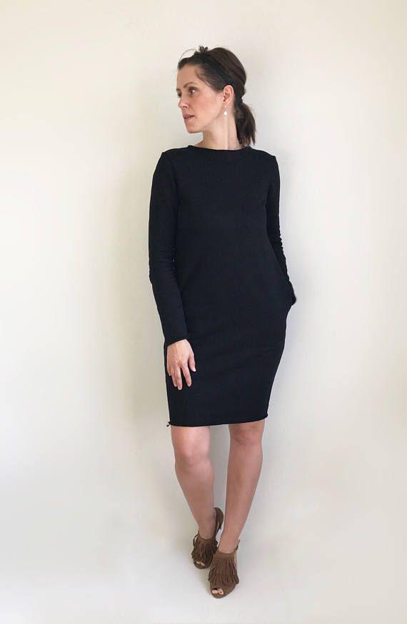 Black Sweatshirt Dress. #ivlhechoconamor #sweaterdress #sweatshirtdress #dress #casual #casualdress #comfydress #oversizeddress #motherhood #instadress #motherhoodrising #fashionmom #fashionblog #dresses #modernmom #womenootd #ootd #minimaliststyle #minimalistfashion #giftforher #casualstyle #minimalfashion #oversizedsweaters #blackdress #blackisbeautiful #autumndress #alldaydress #momlife