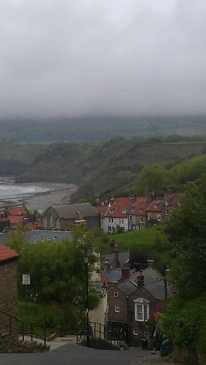 Robin Hood's Bay, 126 miles south of Bamburgh; close to Middlesbrough & Whitby.