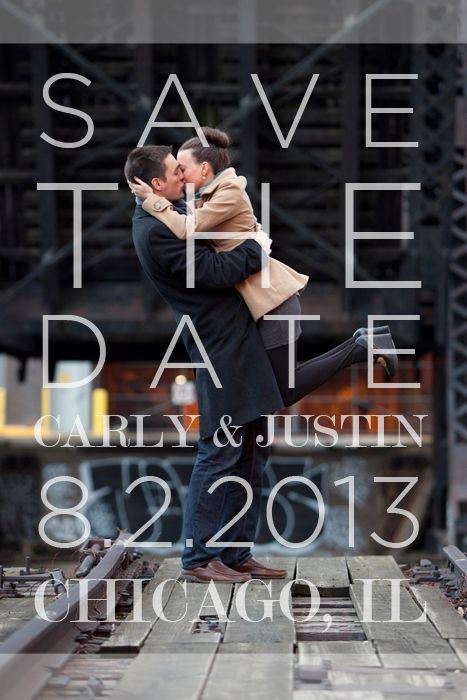 DIY save the date--could adapt design for party invites, etc.