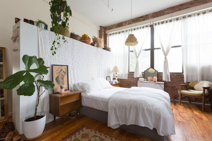 Brooklyn studio apartment with exposed brick