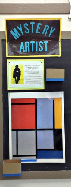 Mystery Artist Game for the art room.  Encourage students to continue to learn outside of the art room, and encourage communication with parents and other friends about what's going on in the art room.  Plus, Reward students for going above and beyond.