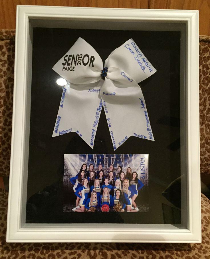 Cheerleading Senior / Coach Gift Shadow Box