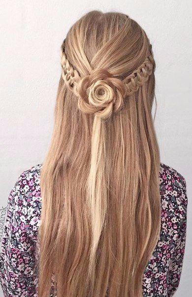 Классные идеи причесок на распущенные волосы 💛 - Искусство готовки