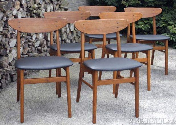 25 beste idee n over jaren 50 meubelen op pinterest for Eetkamerstoelen deens design