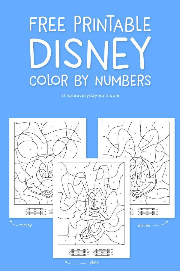 Mickey Mouse Color By Number