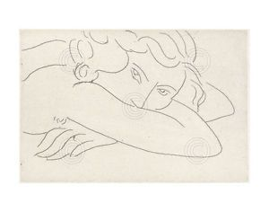 a young woman with face buried in arms 1929 henri matisse art print poster 11x14