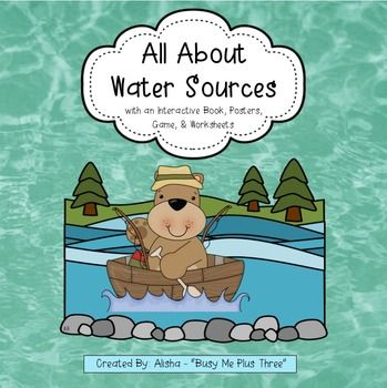 New and improved...with lots more stuff & REAL PHOTOS!  Updated 9/11/14!This is a great introduction or lesson on water sources (streams, rivers, ponds, lakes, and oceans). This is a wonderful lesson for your first grade or second grade students! They will love it and it is quick and easy.