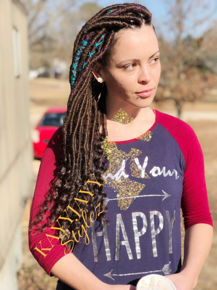 Diggin the pink locs much more than the purple! | Dreads