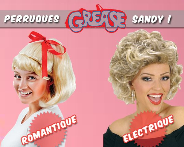 Déguisement Grease - Perruques Sandy #grease #sandy #deguisement #costume #perruque