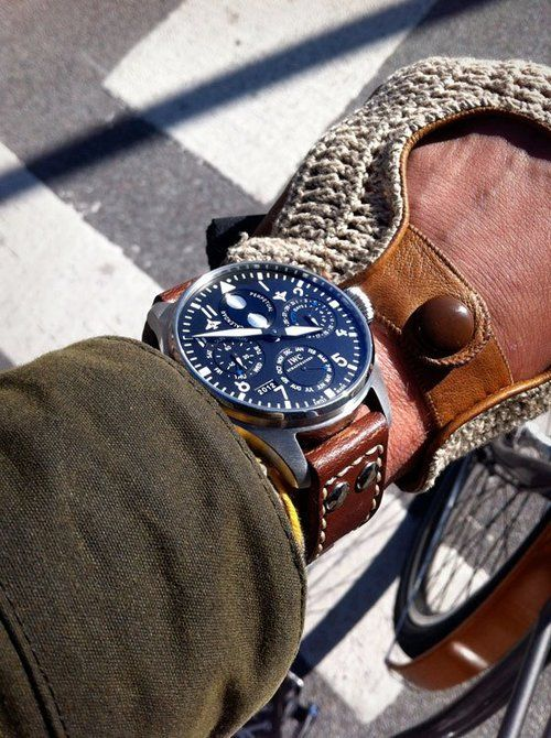 84 best images about iwc international watch blue face tan leather strap really nice