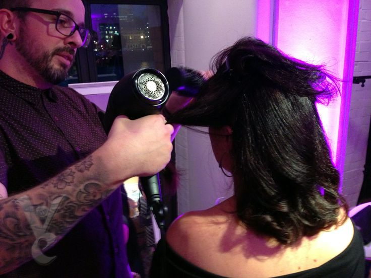 Amanda Carrington being given the Electric Hairdressing London treatment. Cosmo Blog Awards