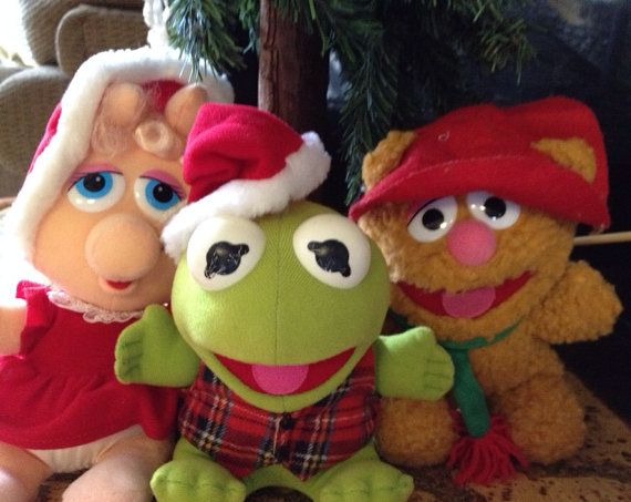 I had these!!!  Vintage Muppets Christmas Dolls Circa 1980s by TheFlyingHostess