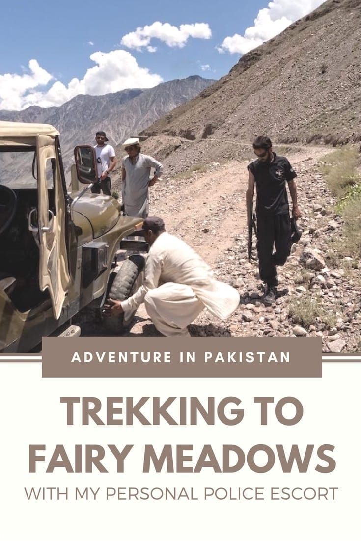 Pakistan is a great destination for hiking and trekking.   My 3 days trek to Fairy Meadows was one of the highlights of my Pakistan adventures.   Read about an unexpected police escort, the drive on one of the most dangerous 4WD tracks in the world, a sublime landscape, and altitude sickness. #pakistan #hiking #trekking #travel