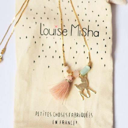 collier pompon nude  @ louise misha