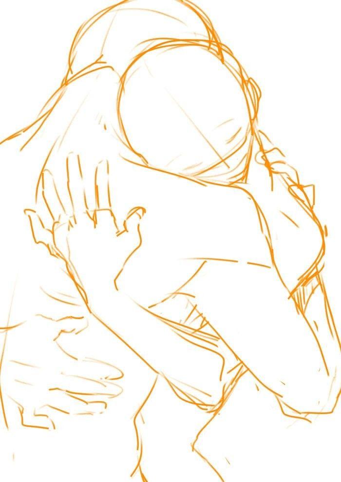 Couple hug pose reference